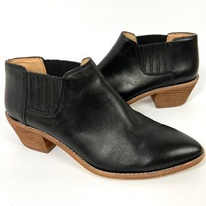 Madewell The Myles Ankle Boot Black Leather Size 7